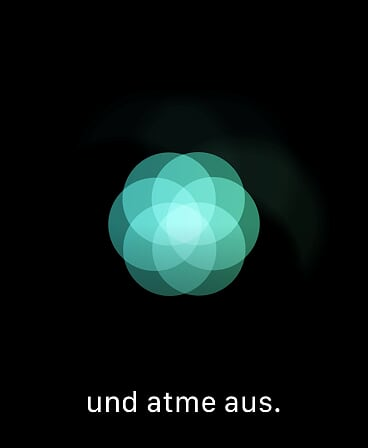 Apple Watch Atmen Ausatmen