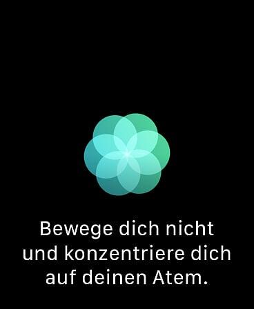 Apple Watch Atmen Übung